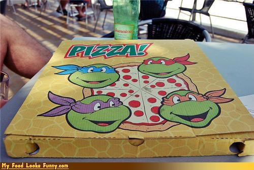 Funny Food Photos - TMNT Pizza Box