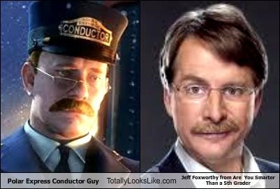 Polar Express Conductor Guy Totally Looks Like Jeff Foxworthy from Are  You Smarter Than a 5th Grader