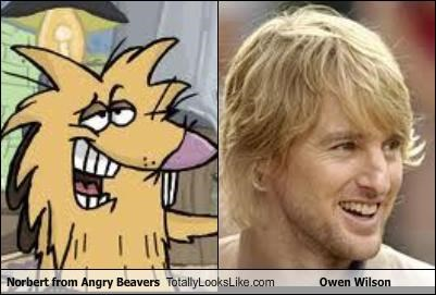 Norbert from Angry Beavers Totally Looks Like Owen Wilson