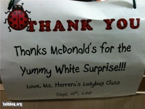 failboat,gratitude,innuendo,McDonald's,notes,really,school,surprise,thanks