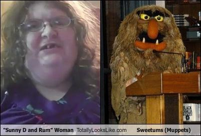 """Sunny D and Rum"" Woman Totally Looks Like Sweetums (Muppets)"