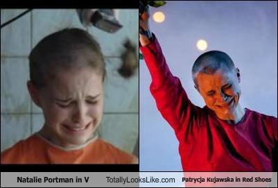 Natalie Portman in V Totally Looks Like Patrycja Kujawska in Red Shoes