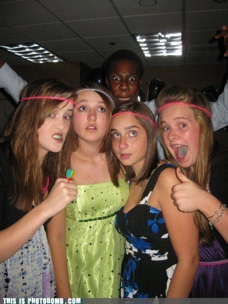 girls,headbands,magic,magic cards,photobomb