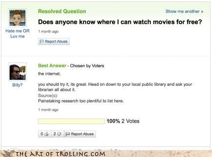 piracy,yahoo answers,funny,google