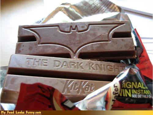 Funny Food Photos - The Dark Knight Kit Kat