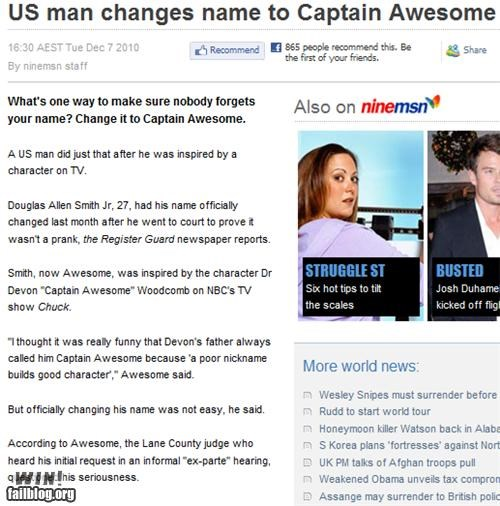 Captain Awesome WIN