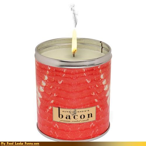 Funny Food Photos - Bacon Scented Candle