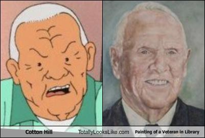 cotton hill,King of the hill,old man,painting,veteran