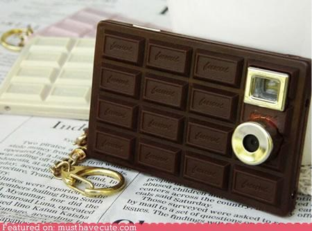 camera,chocolate,chocolate bar,digital,fake