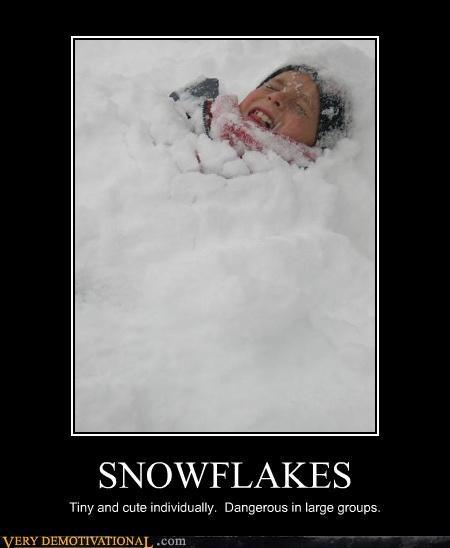Death,like people,metaphor,snow,snowflakes
