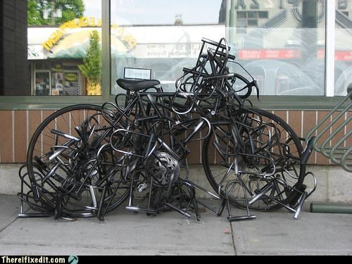 bike,bike lock,overkill