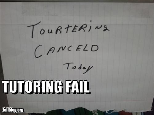 Tutoring Fail
