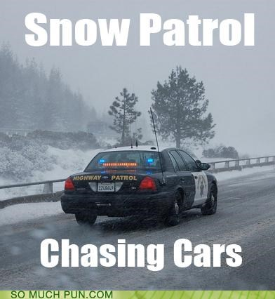 album,cars,chasing cars,highway patrol,literalism,snow patrol,song,title,visualization