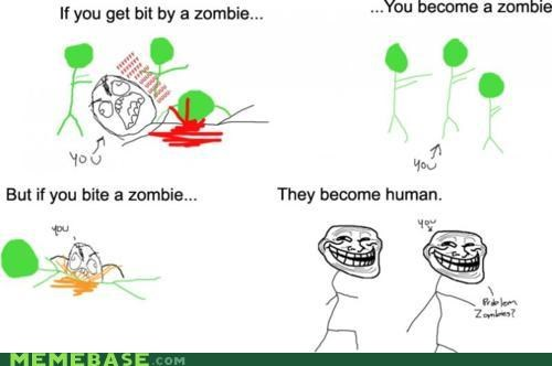Troll Science: Zombies Reversed!