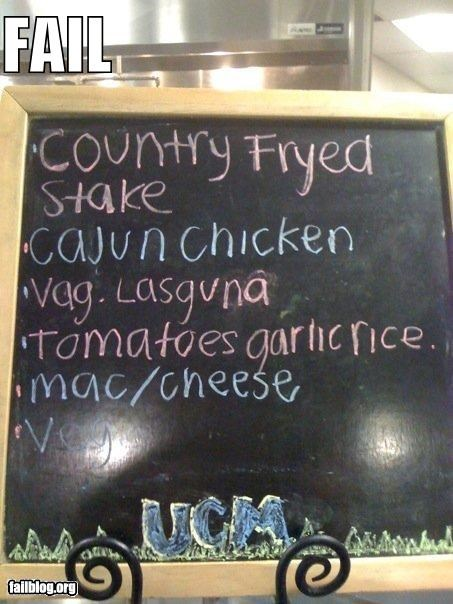 I'll have a side of the Vag Lasguna...