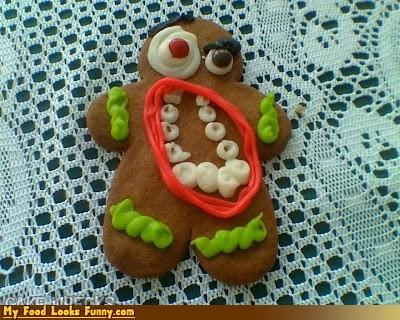cookies,decorated,frosting,gingerbread,gross,mouth,teeth