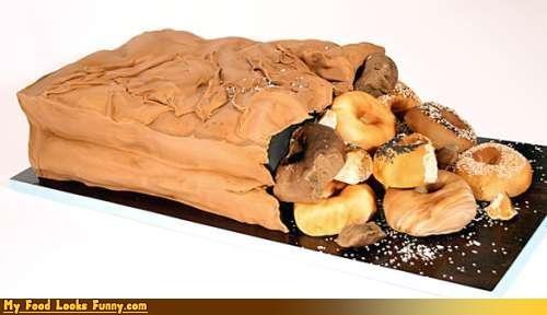 bag,cake,dessert,donut cake,donuts,doughnuts,Sweet Treats