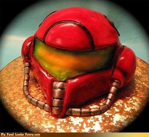 cake,helment,metroid cake,NES,nintendo,samus,Sweet Treats