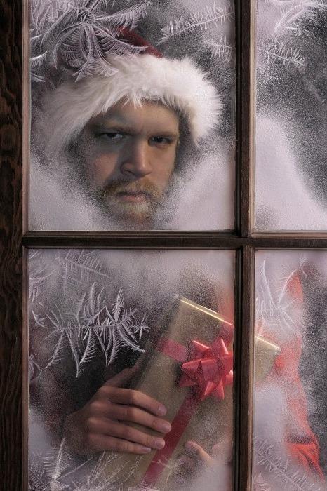 creepy,Hall of Fame,present,santa,scary,window,wtf