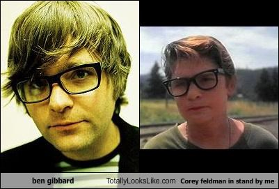 ben gibbard Totally Looks Like Corey feldman in stand by me