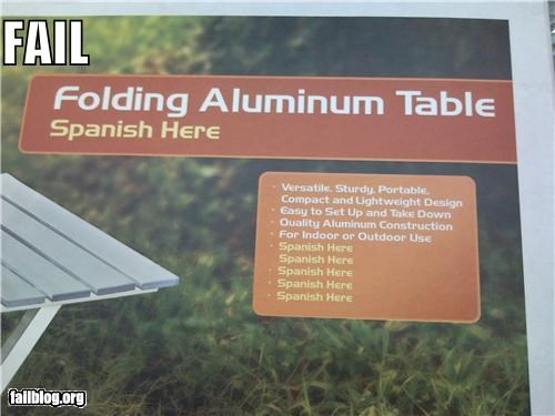 Proof-Read FAIL:  Spanish goes where?