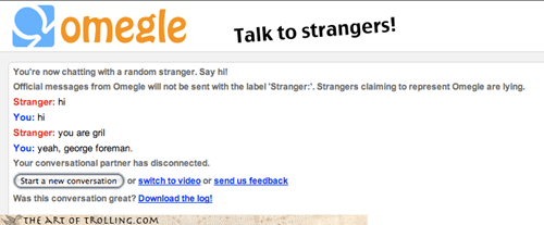 Omegle,george foreman,grill