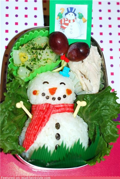 Epicute: A Snowman's Lunch