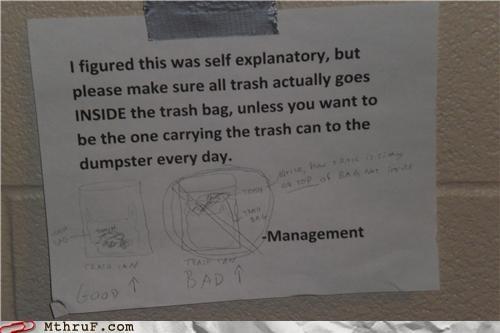 illustration,management,notes,thanks,trash