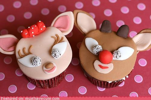 Epicute: Rudolph and Clarice Cupcakes