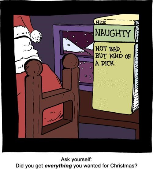 comic,funny,illustration,listing,naughty list,santa