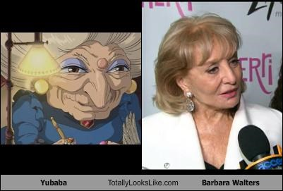 Yubaba Totally Looks Like Barbara Walters