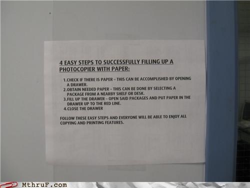 copier,note,paper,signs,step by step