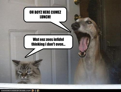 OH BOYZ HERE COMEZ LUNCH!
