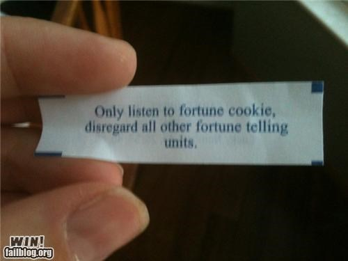 Fortune Cookie Advice WIN