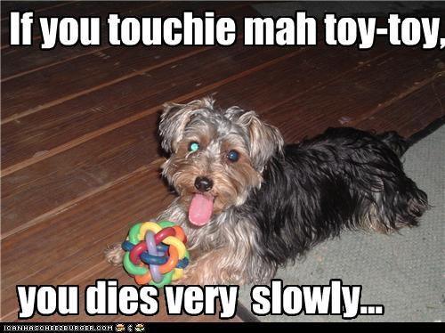If you touchie mah toy-toy,