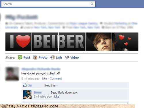 He Really Likes the New Facebook Layout