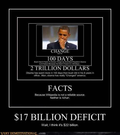 $17 BILLION DEFICIT