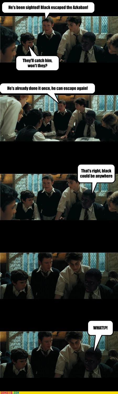black,Harry Potter,puns,race jokes,Sirius
