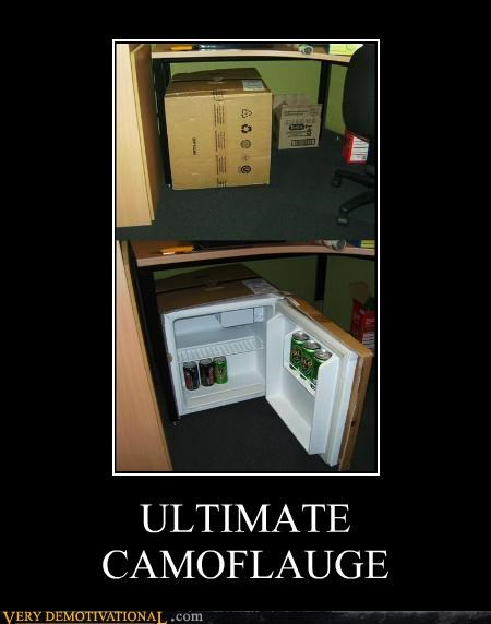 camouflage,food,Hall of Fame,modern living,office humor,refrigerator,spy gear,stealth