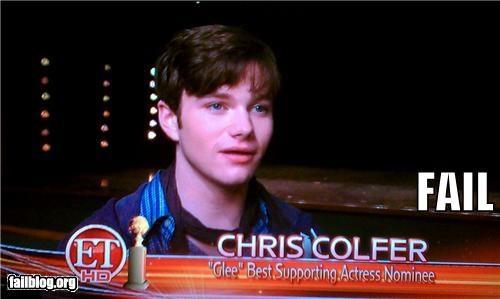 actors,Awards,caption,celeb,failboat,gender,glee,television