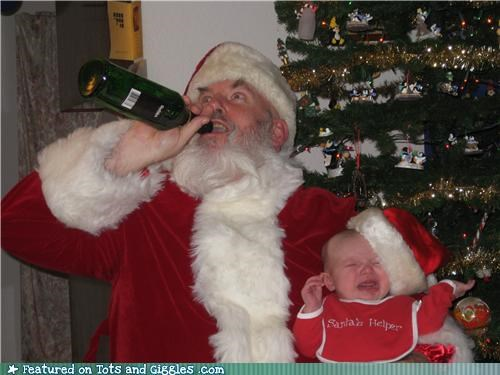 Shut It, Kid. Santa Needs A Drink!