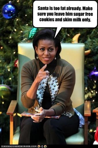 christmas,funny,holiday,lolz,Michelle Obama,santa