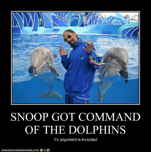 SNOOP GOT COMMAND OF THE DOLPHINS