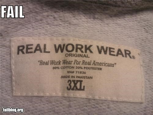 Real workwear for real Americans?