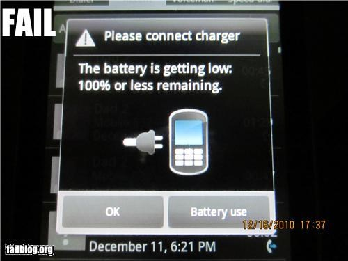charging message fail