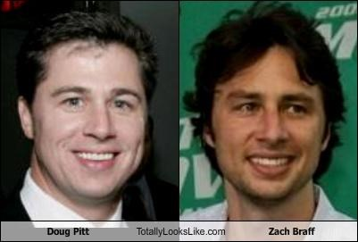 Doug Pitt Totally Looks Like Zach Braff