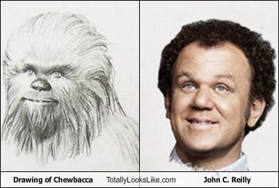 Drawing of Chewbacca Totally Looks Like John C. Reilly