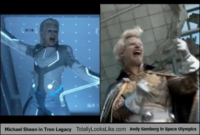 Michael Sheen in Tron Legacy Totally Looks Like Andy Samberg in Space Olympics