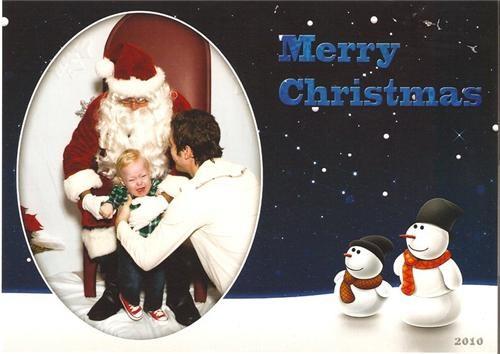 boy,christmas card,crying,santa,throne