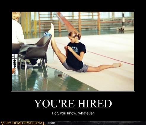 babe,flexible,gymnast,hiring,in this economy,the job market